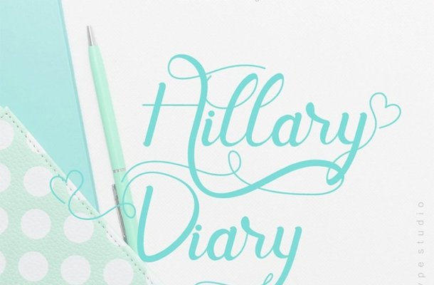 Hill Diary Calligraphy Font
