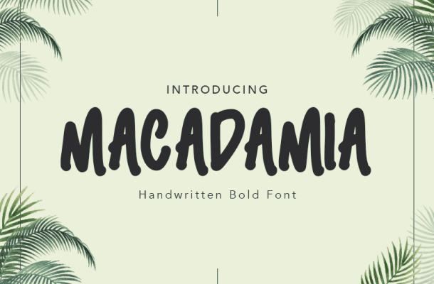 Macadamia Font