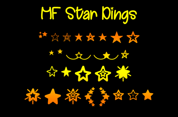 MF Star Dings Font