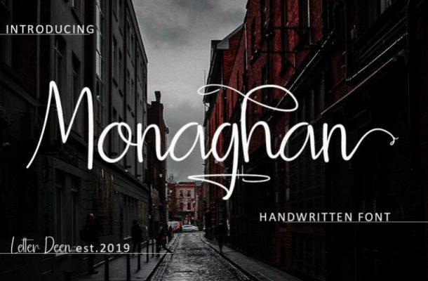 Monaghan Signature Font