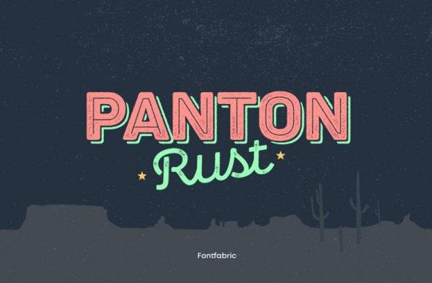Panton Rust Font Family