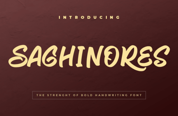 Saghinores Font