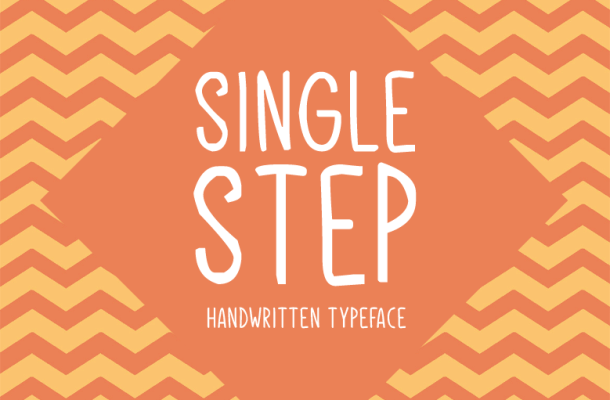 Single Step Font