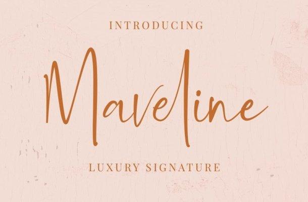 Maveline Luxury Signature Font
