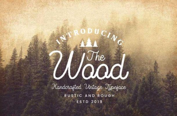 The Wood Vintage Monoline Script