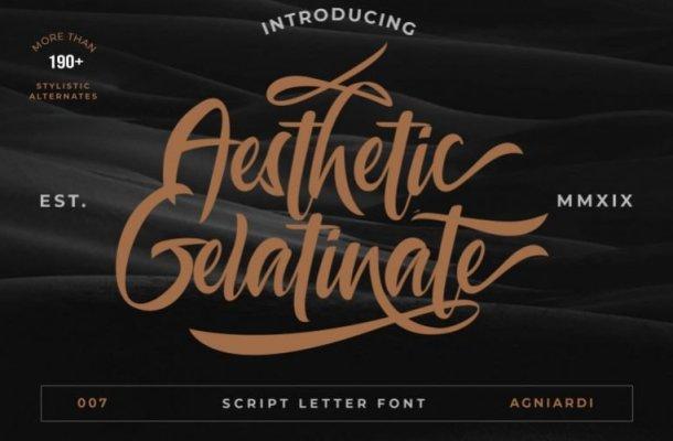 Aesthetic Gelatinato Font