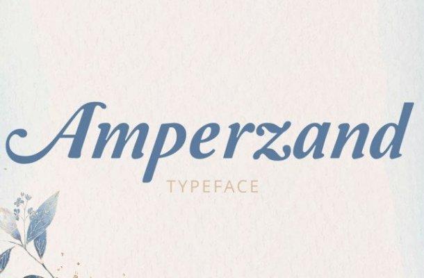 Amperzand Typeface