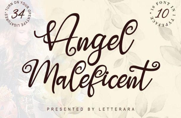 Angel Maleficent Font