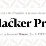 Blacker Pro Serif Font