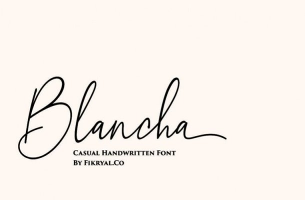 Blancha Handwritten Font
