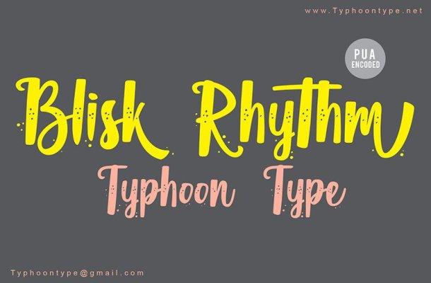 Blisk Rhythm Script Font
