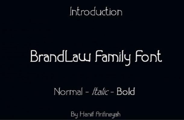 BrandLaw Serif Font