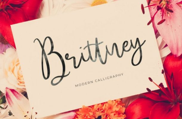 Brittney Calligraphy Font