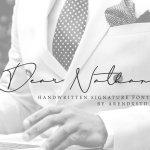 Dear Nathan Signature Font