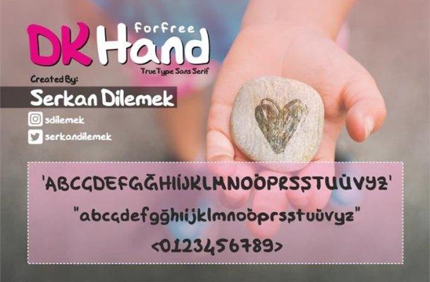 DK Hand Script Font