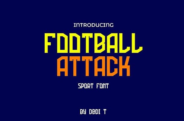 Football Attack Display Font