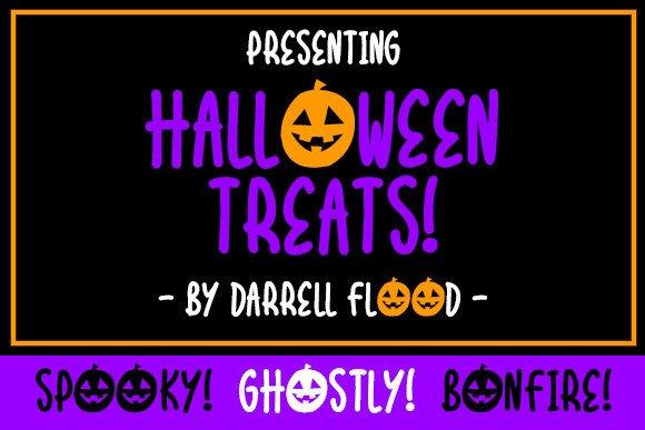 Halloween Treats Display Font
