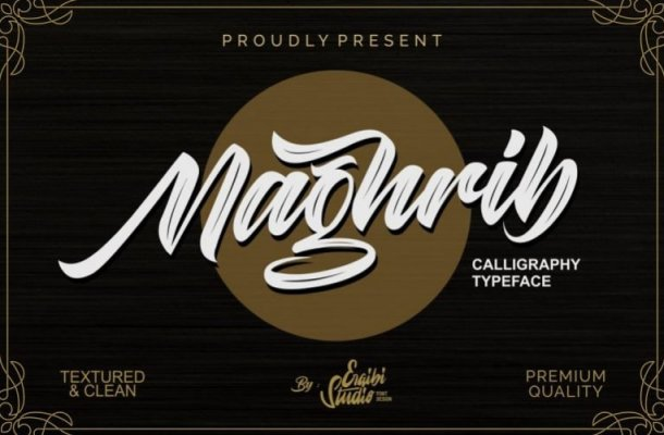 Maghrib Calligraphy Font
