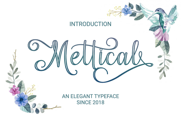 Mettical Font