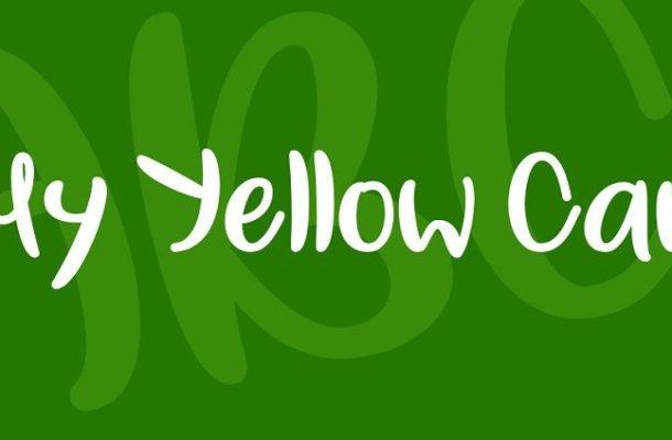 My Yellow Car Font