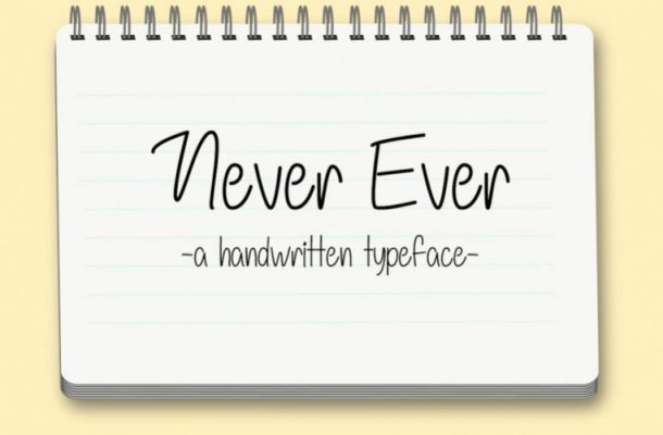 Never Ever Handwriting Font