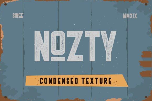 Nozty Textured Font