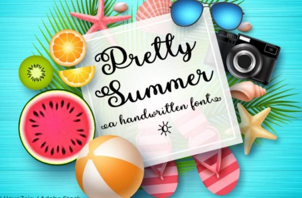 Pretty Summer Script Font