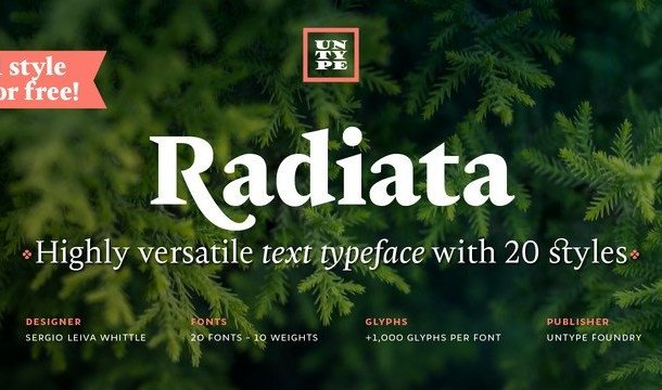 Radiata Serif Font Demo