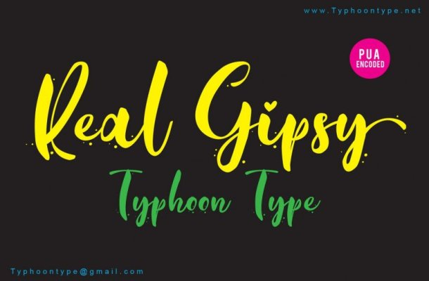 Real Gipsy Script Font