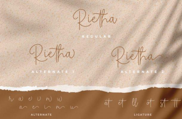 Rietha Script Font