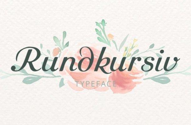 Rundkursiv Typeface