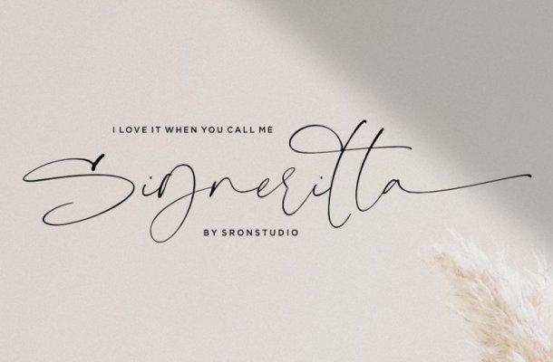 Signeritta Signature Font