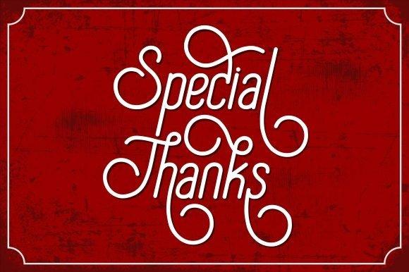 Special Thanks Script Font