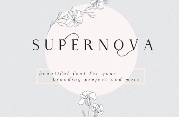 Supernova Font