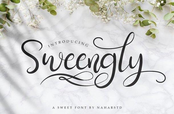 Sweengly Script Font