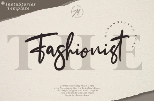 The Fashionist Handwritten Font