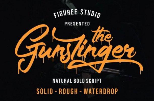The Gunslinger Script Font