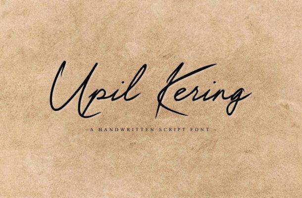 Upil Kering Handwritten Font