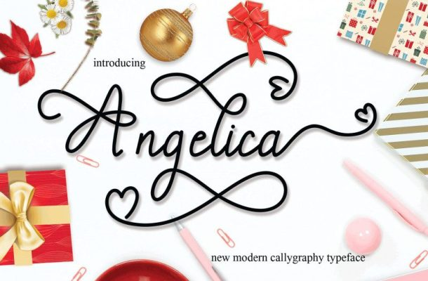 Angelica Calligraphy Font