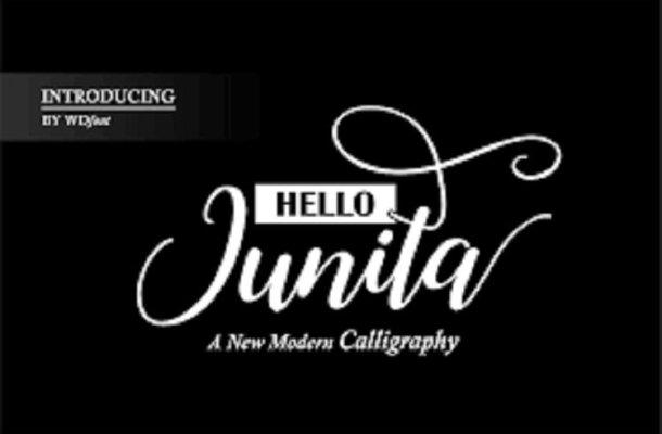 Junita Calligraphy Font