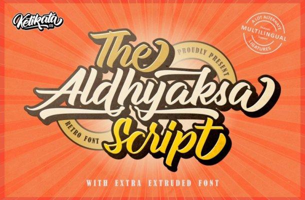 Aldhyaksa Script Font