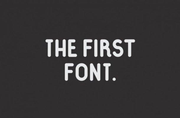The First Sans Serif Font