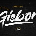 Gisbon – Brush Font