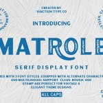 Matrole Display Font