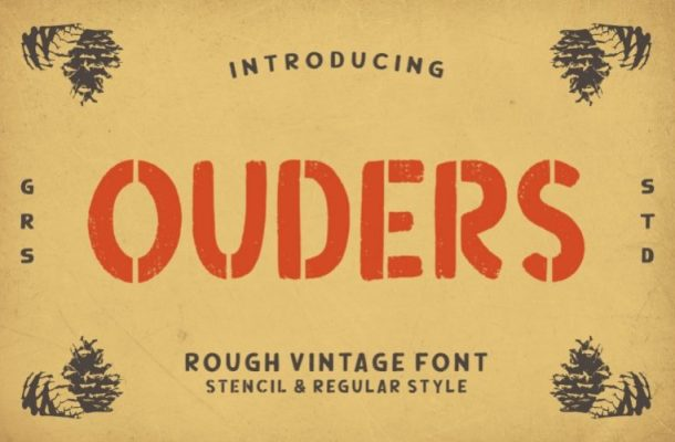 Ouders Display Font