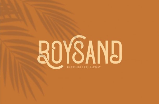Boysand Display Font
