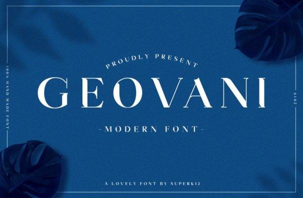 Geovani – Modern Font