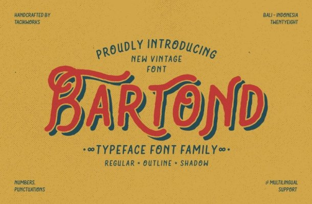 Bartond Typeface Free