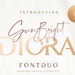 Diora Sunbright Font Duo Free