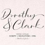 Dorothy Clark Script Font